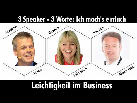 3 Speaker - 3 Worte: