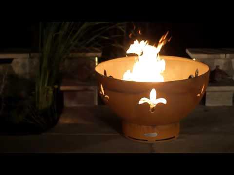 Fire Pit Art Fleur de Lis