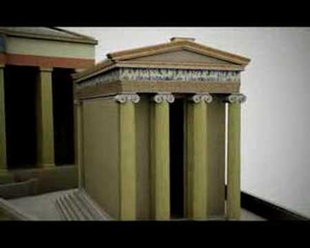 3D beeld van de Akropolis
