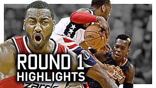 John Wall NASTY Round 1 Offense Highlights VS Hawks 2017 Playoffs - UNSTOPPABLE!
