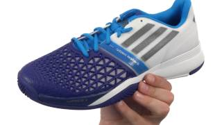 Adidas Adizero Feather III Men's Shoes White Blue video