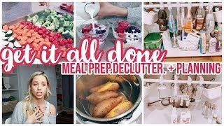 GET IT ALL DONE // MEAL PREP, DECLUTTER, PLAN WITH ME, DIY VISION BOARD + HOMEMAKING