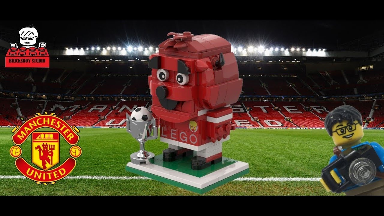 LEGO MOC #52 Manchester United Football Club (MUFC) Mascot Fred BrickHeadz