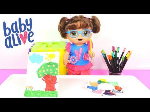 BABY ALIVE AMANDINHA DESCOBRINDO A MGICA DAS CORES PARTE 2