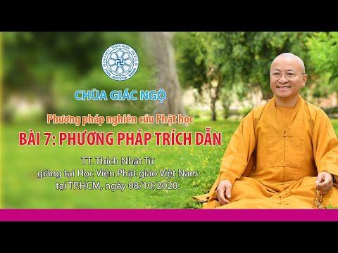Phương pháp trích dẫn - Phương pháp Nghiên cứu Phật học