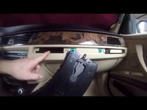 BMW cup holder removal repair and replacement E90 E91 E92 E93