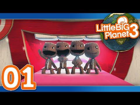 Little Big Planet 3: Part 01 - Prologue (4-Player)