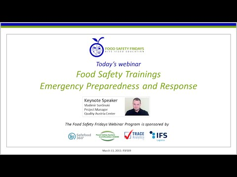 Food Safety Trainings - Emergency Preparedness and Response ...