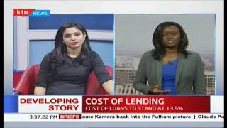 COST OF LENDING: Cost of loans to stand at 13.5%