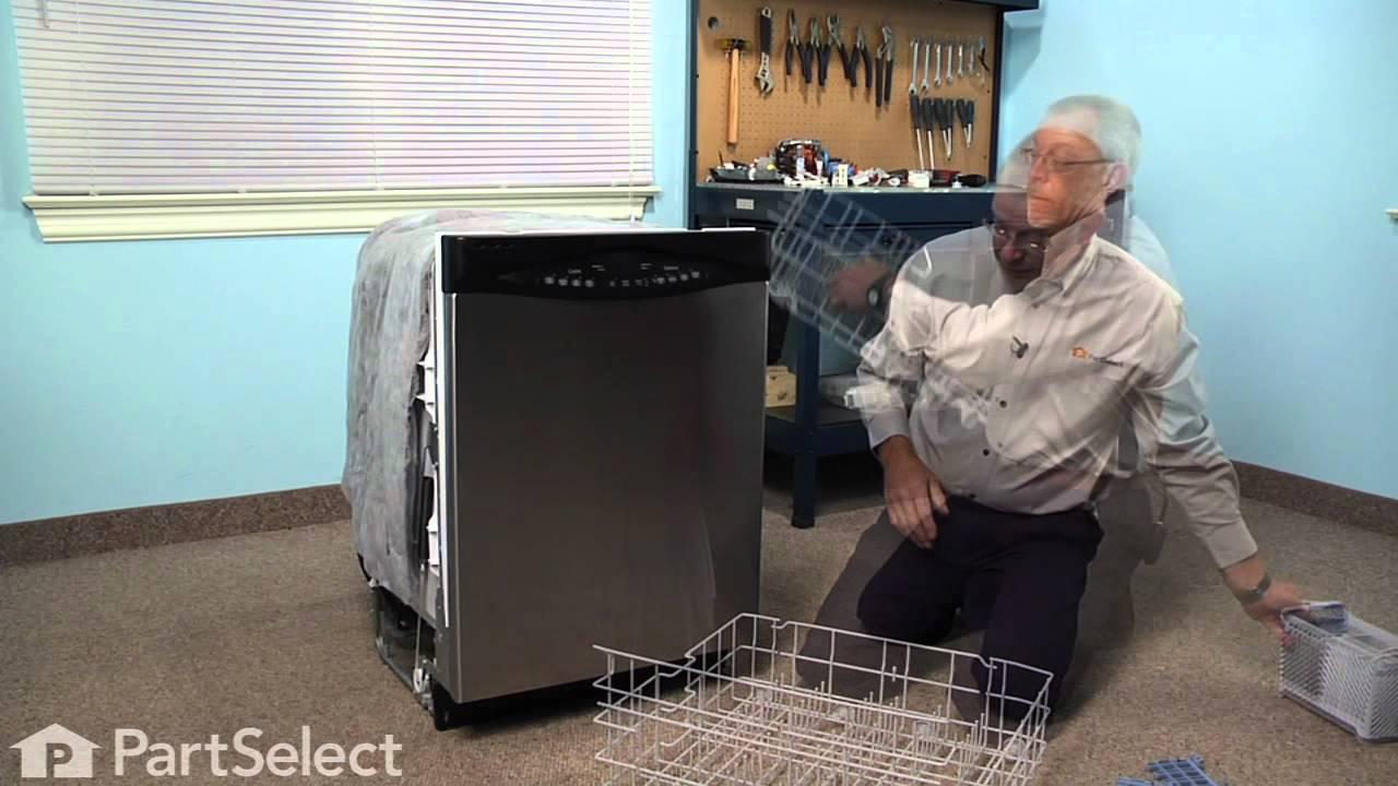 Replacing your Maytag Dishwasher Lower Dishrack Kit