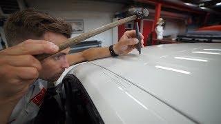 Выпрямление вмятины без покраски. PDR. Dent Repair Line