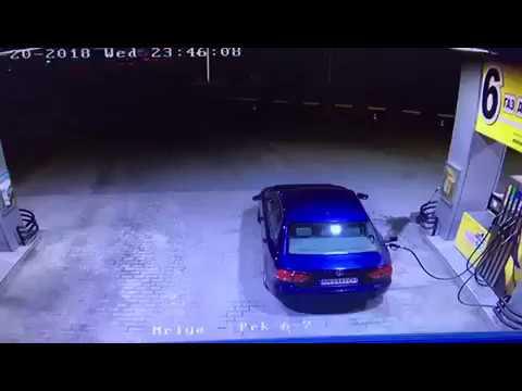 Zerwanie węża na stacji benzynowej