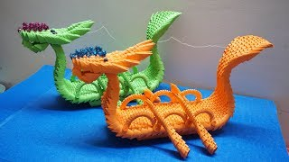 3D Origami Dragon Boat Tutorial | DIY Paper Dragon Boat Home Decor