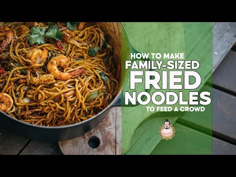 Family Fried Noodles | Making Noodles for a Crowd | Easy Asian Recipe