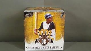 2016 Panini Donruss Diamond Kings Baseball Hobby Box Break! Nice!