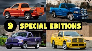 9 Special & Limited Edition Dodge Ram 1500 Pickup Trucks – RARE!