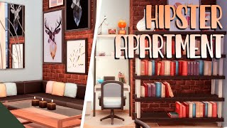 HIPSTER ROOMMATES APARTMENT || The Sims 4: Speed Build