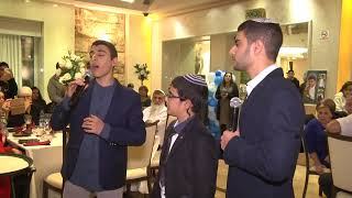 """The singers Eviatar and Uzia Zadok sing to their brother Shiviv at his Bar Mitzvah - """"Bless You"""""""