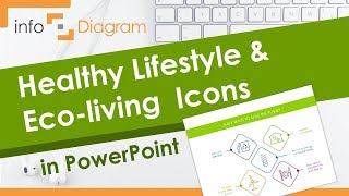 PowerPoint Template - Healthy Lifestyle and Eco living Outline Icons