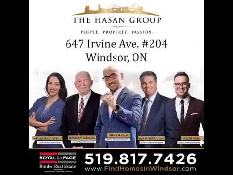 SOLD SOLD!! BEAUTIFUL CONDO ~ 647 Irvine - Windsor, On.
