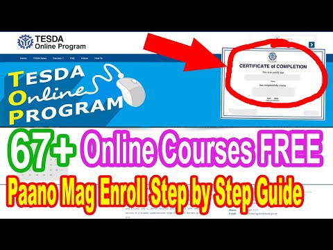 TESDA Online Program: How to Enroll with FREE Certificate 2020 ...