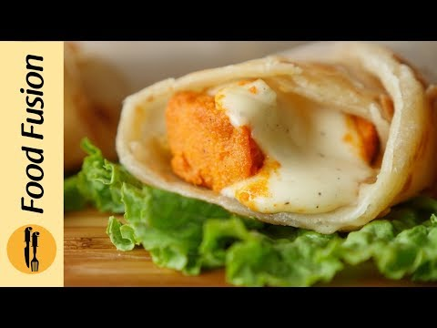 Chicken Cheese Paratha Roll Recipe By Food Fusion
