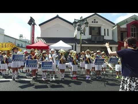 一関小学校マーチングバンドクラブ(第68回いちのせき夏まつり2019.8.2)