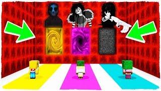 ¡NO ELIJAS LA DIMENSIÓN EQUIVOCADA! Eyeless Jack, Jane the Killer y Laughing Jack en Minecraft