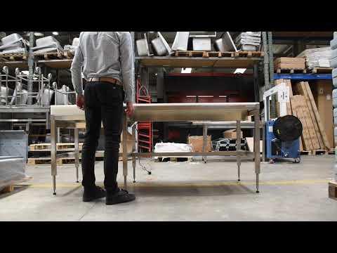 Table de découpe hauteur réglable