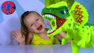 ВЛОГ Супер Динозавр Проектор для рисования Видео для детей