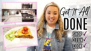 GET IT ALL DONE | SHOP, CLEAN, COOK WITH ME | DAY IN THE LIFE | JESSICA O'DONOHUE