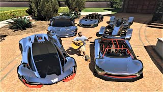 GTA 5 - Stealing Luxury Cars with Michael! Most Expensive Real Cars #01