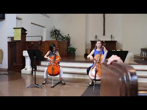 "A student performing ""Gavotte in C Minor"" for my yearly cello recital."
