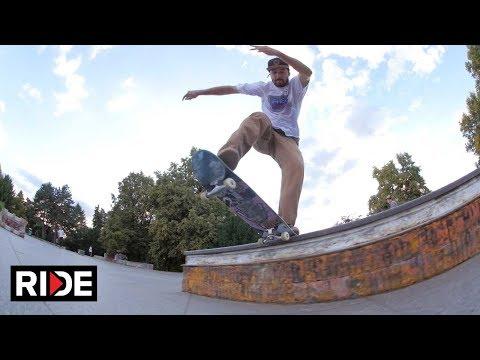 Skateboarding Stalin Plaza in Prague, Czech Republic