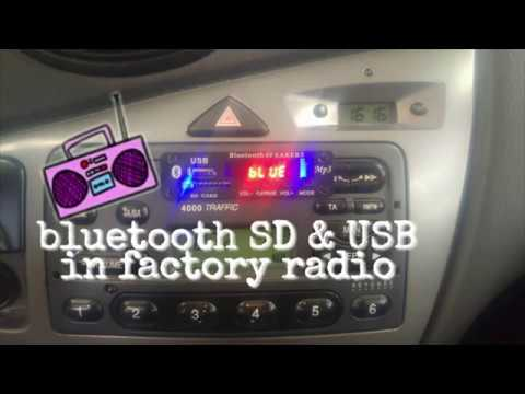 Bluetooth,SD,USB in factory radio and how to instal it.