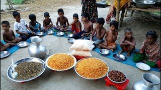 Traditional Tiny Sweet (Bundia) Making For Ramadan Iftar - Huge Iftar Food Arrangement For Villagers