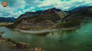 #Алтай. Overlanding. Дорога по левому берегу Катуни у места слияния с Чуей.