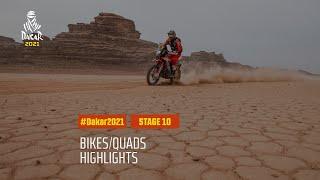DAKAR2021 - Stage 10 - Neom / AlUla - Bike/Quad Highlights