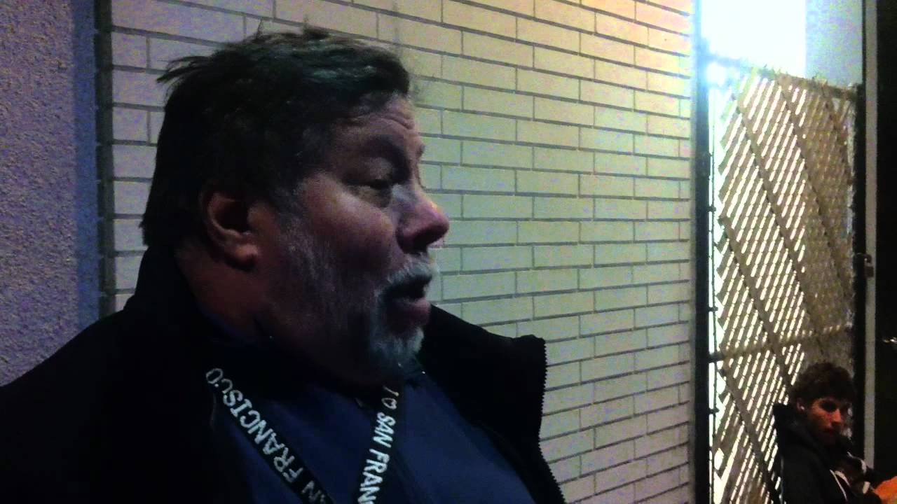 Here's Woz, Waiting In Line For His New iPad