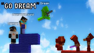 Dream, GeorgeNotFound, Quackity and Sapnap plays funniest game of Bedwars on Hypixel
