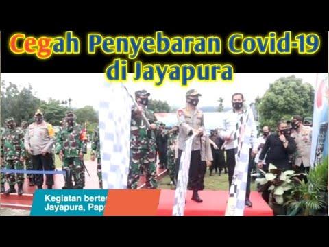 Cegah Penyebaran Covid-19, Panglima TNI Lepas Satgas Pendisiplinan Protokol di Jayapura