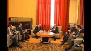 Встреча Министра иностранных дел Армении Зограба Мнацаканяна с главой МИД Палестины Риядом аль-Малики