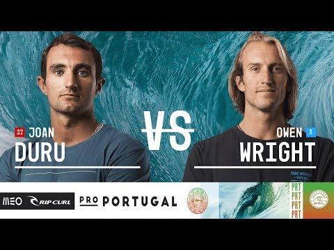 Joan Duru vs. Owen Wright - Semifinals, Heat 2 - MEO Rip Curl Pro Portugal 2018