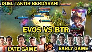 DUEL TAKTIK BERDARAH! EVOS VS BTR! ADA SKIN HARLEY EPIC TERBARU! AMAZING GAMEPLAY!