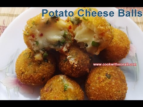 Potato Cheese Balls | Quick easy simple snacks Recipe | Cheese balls by Cook with Sonali