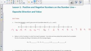 Math 6 Module 3 Exit Ticket 1 Video
