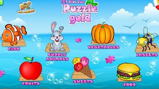 Let's Play • 123 Kids Fun PUZZLE GOLD • Układanki, Zwierzątka, Pojazdy, bajki, Gry dla dzieci