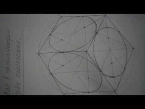 Черчение, построение овала в аксонометрии