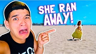 SHE RAN AWAY!