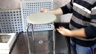 Плетеное кресло из ротанга с мягким сиденьем своими руками